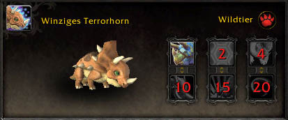 Winziges Terrorhorn